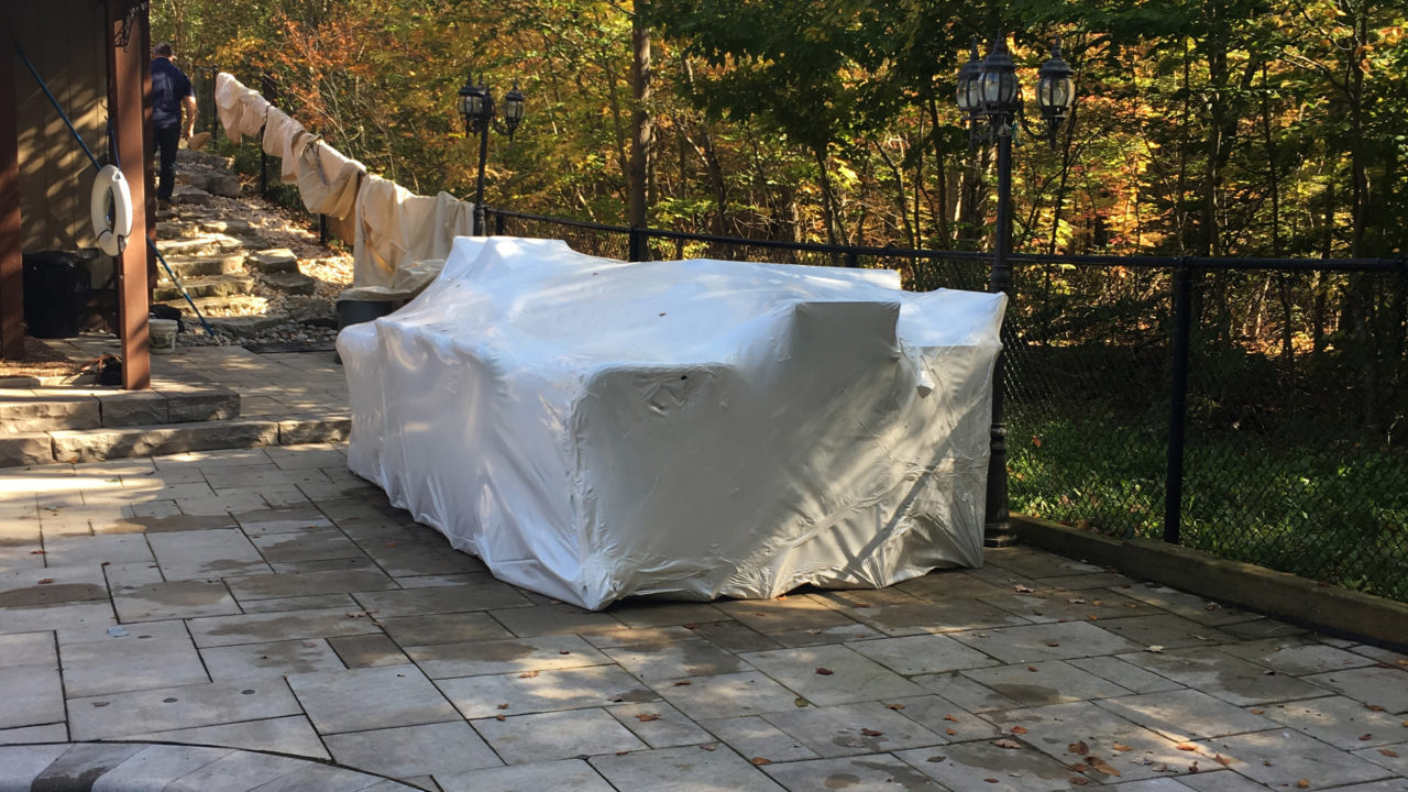 shrink wrap, patio, home, Toronto, GTA
