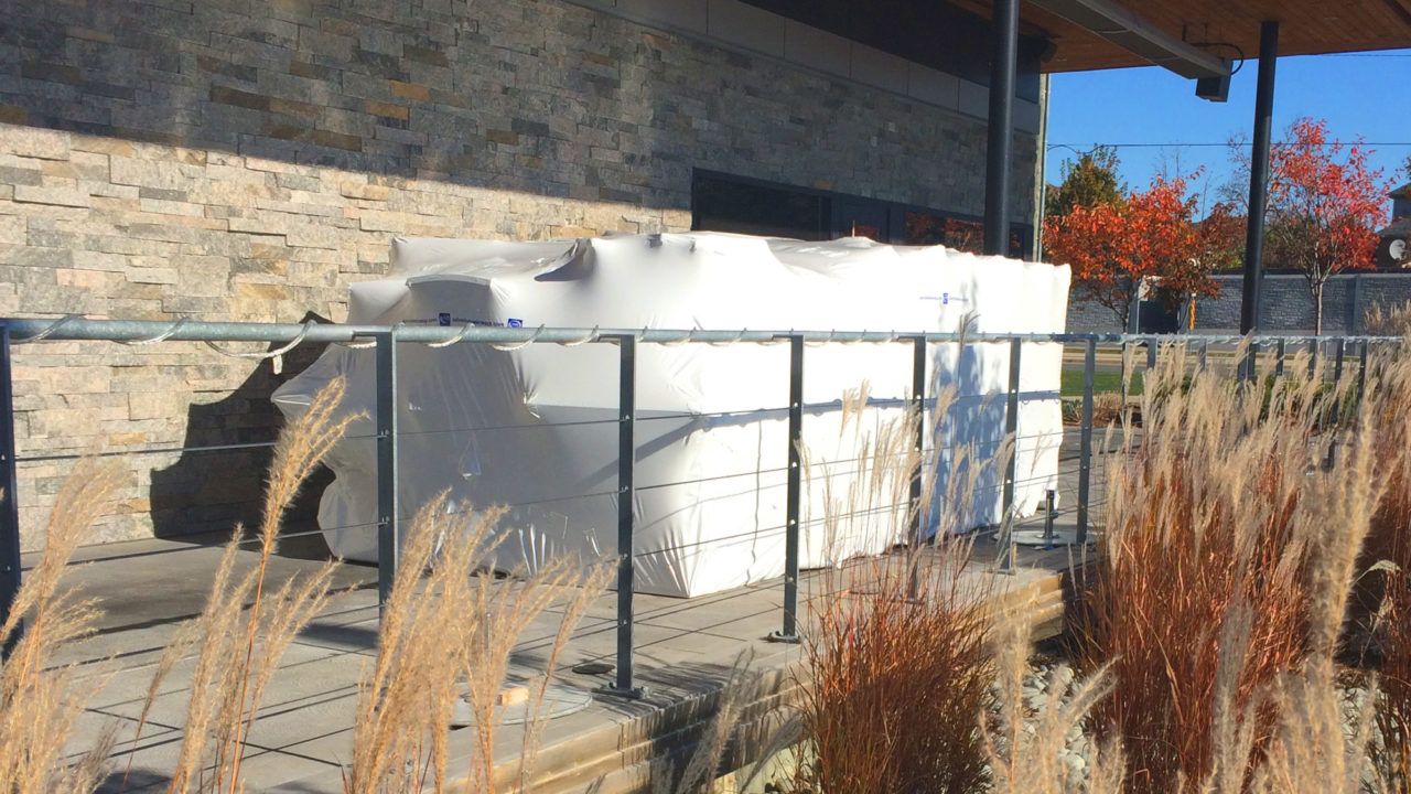 shrink wrap, patio, restaurant, Toronto, GTA